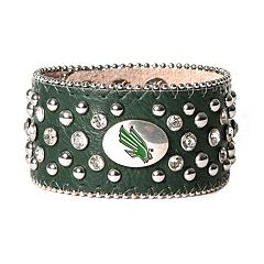 Women's North Texas Mean Green Glitz Cuff Bracelet