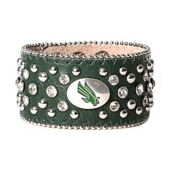 Women's North Texas Mean Green Glitz Cuff Bracelet