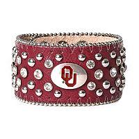 Women's Oklahoma Sooners Glitz Cuff Bracelet