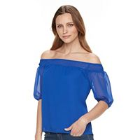 Petite Apt. 9® Smocked Off-the-Shoulder Top