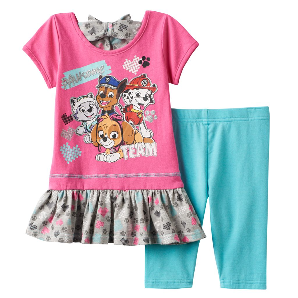 Baby Girl Paw Patrol Skye, Everest, Marshall & Chase Graphic Top & Leggings Set