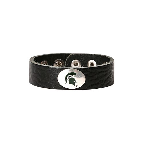 Women's Michigan State Spartans Leather Concho Bracelet