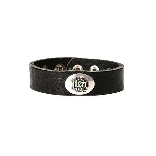 Women's North Dakota Fighting Hawks Leather Concho Bracelet