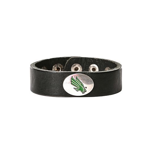 Women's North Texas Mean Green Leather Concho Bracelet