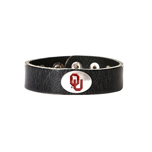Women's Oklahoma Sooners Leather Concho Bracelet