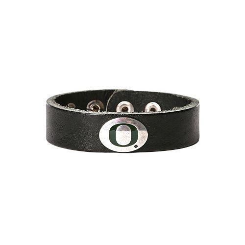 Women's Oregon Ducks Leather Concho Bracelet