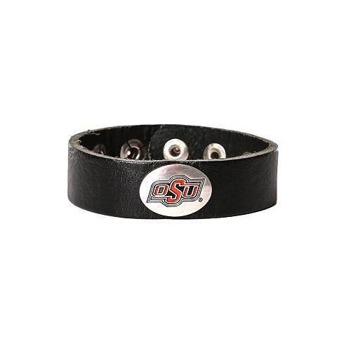 Women's Oklahoma State Cowboys Leather Concho Bracelet