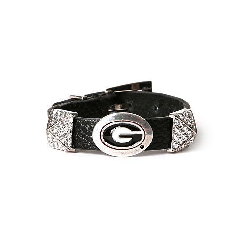 Women's Georgia Bulldogs Pyramid Bracelet