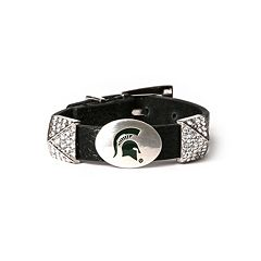 Women's Michigan State Spartans Pyramid Bracelet