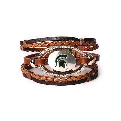 Women's Michigan State Spartans Bracelet Set