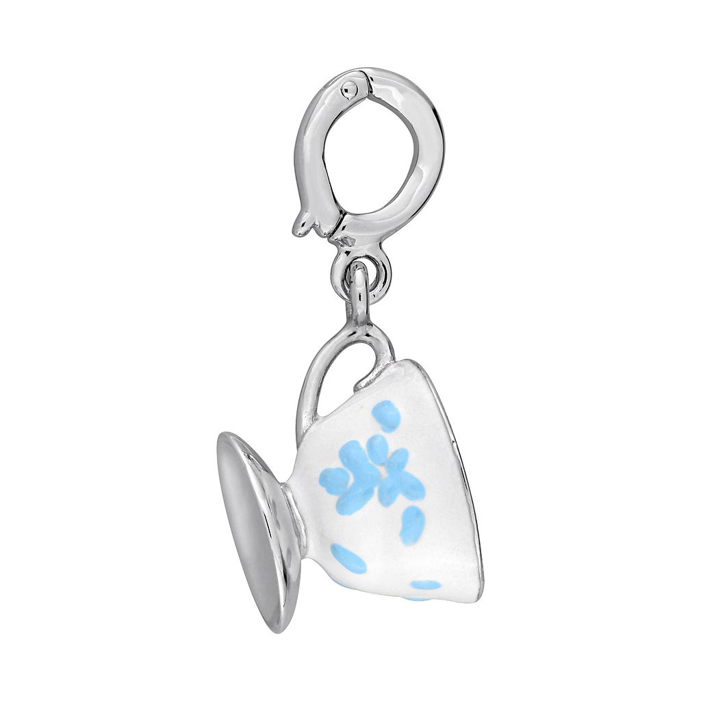 Laura Ashley Jubilee Collection Sterling Silver Teacup Charm