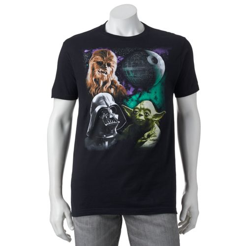 Men's Star Wars Chewbacca, Darth Vader & Yoda Graphic Tee