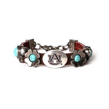 Women's Auburn Tigers Turquoise Flower Bracelet
