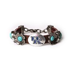 Women's Kentucky Wildcats Turquoise Flower Bracelet