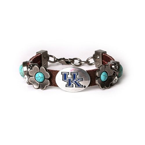 Women's Kentucky Wildcats Turquoise Flower Bracelet