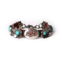 Women's Oklahoma State Cowboys Turquoise Flower Bracelet