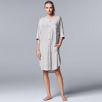 Women's Simply Vera Vera Wang Pajamas: Lakeside Lounging Short Sleeve Sleep Shirt