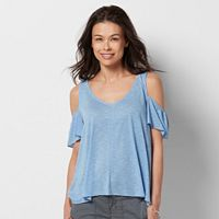 Petite SONOMA Goods for Life™ Cold-Shoulder Tee