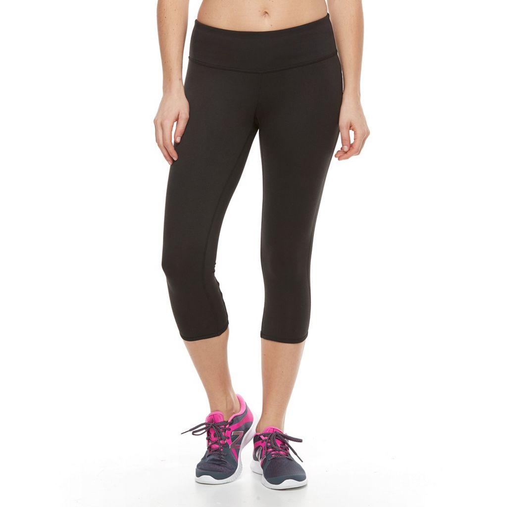 Petite Tek Gear® Lattice-Back Capri Leggings