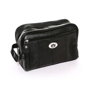 Auburn Tigers Black Leather Shave Kit