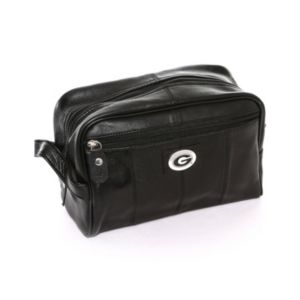 Georgia Bulldogs Black Leather Shave Kit