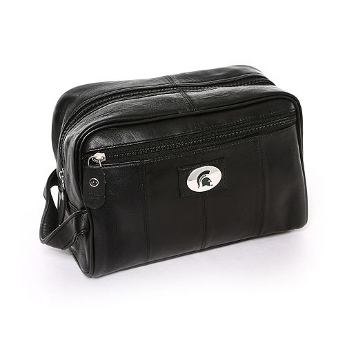 Michigan State Spartans Black Leather Shave Kit