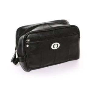 Oregon Ducks Black Leather Shave Kit