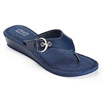 Chaps Signature Women's Wedge Flip-Flops