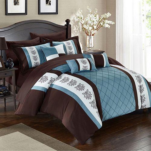 Chic Home Clayton Comforter Set, Queen, Brown - amazon.com