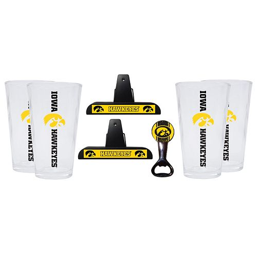 Iowa Hawkeyes 7-piece Pint Glass Set