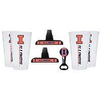 Illinois Fighting Illini 7 pc Pint Glass Set