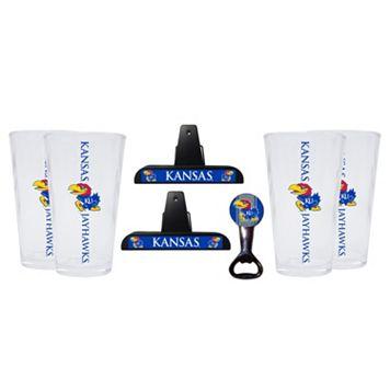 Kansas Jayhawks 7-piece Pint Glass Set