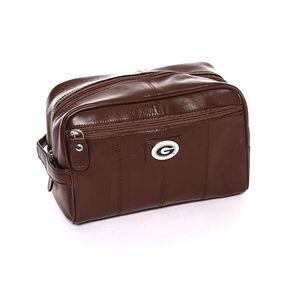 Georgia Bulldogs Brown Leather Shave Kit