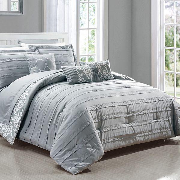 Lea 10 Piece Comforter Set, Kohls Queen Bedding Set
