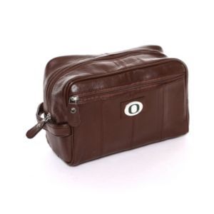 Oregon Ducks Brown Leather Shave Kit