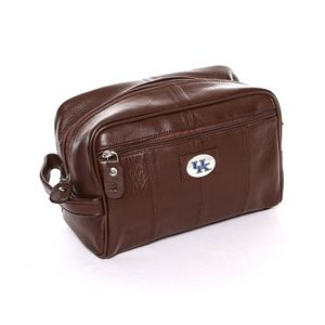 Kentucky Wildcats Brown Leather Shave Kit