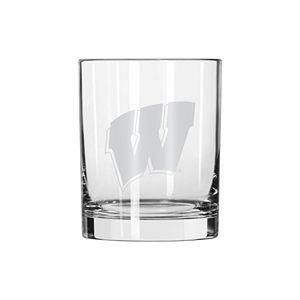 Boelter Wisconsin Badgers Satin-Etched Rocks Glass