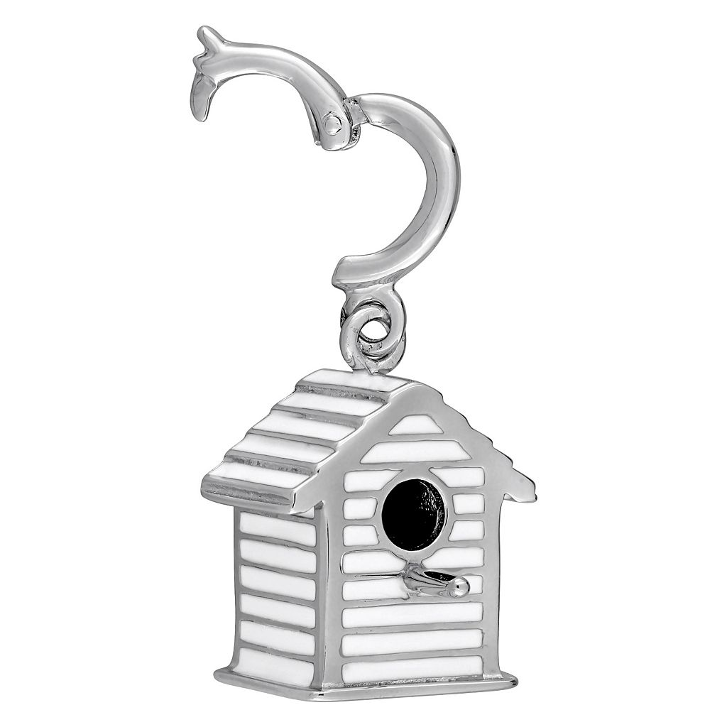 Laura Ashley Garden Collection Sterling Silver Bird House Charm