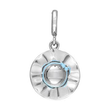 Laura Ashley Jubilee Collection Sterling Silver Blue Sun Hat Charm