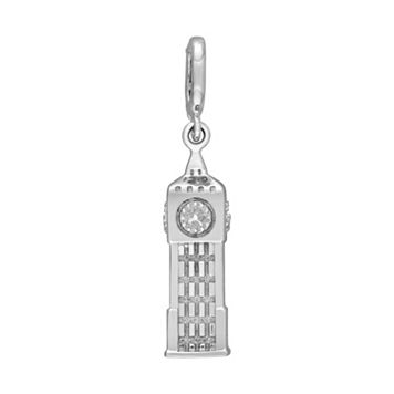 Laura Ashley Great Britain Collection Sterling Silver Big Ben Clock Tower Charm
