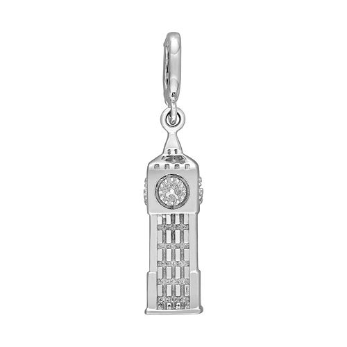 Laura Ashley Lifestyles Great Britain Collection Sterling Silver Big Ben Clock Tower Charm