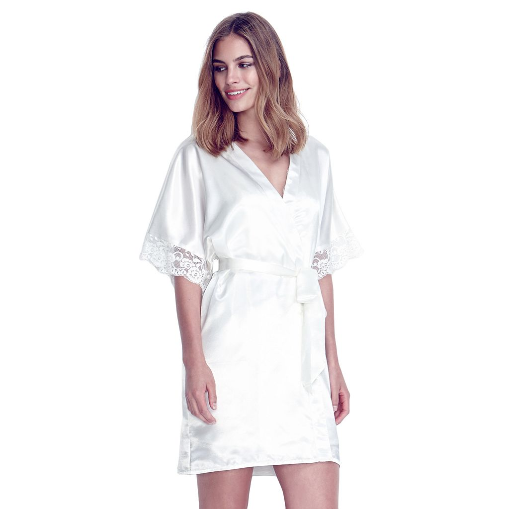 Women's Flora by Flora Nikrooz Emma Lace Wrap Robe
