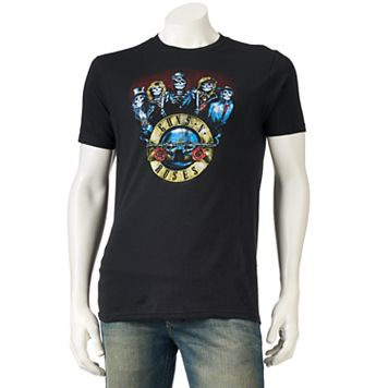 Men's Guns N' Roses Skull Band Tee