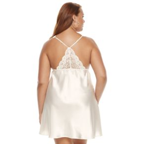 Plus Size Flora by Flora Nikrooz Emma Lace Panel Chemise