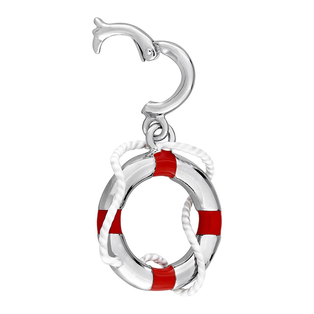 Laura Ashley Nautical Collection Sterling Silver Life Preserver Charm