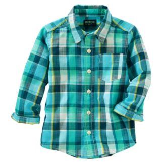 Toddler Boy OshKosh B'gosh® Long-Sleeve Plaid Shirt