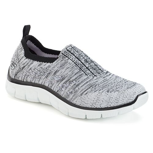 0d9c4d8f5148 Skechers Relaxed Fit Empire Stretch Knit Gore Collar Women s Slip On Shoes