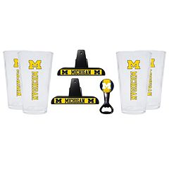 Michigan Wolverines 7-piece Pint Glass Set