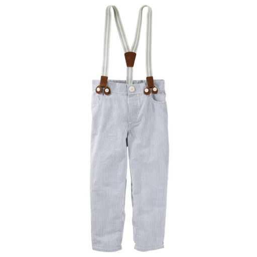 Toddler Boy OshKosh B'gosh® Seersucker Suspender Pants