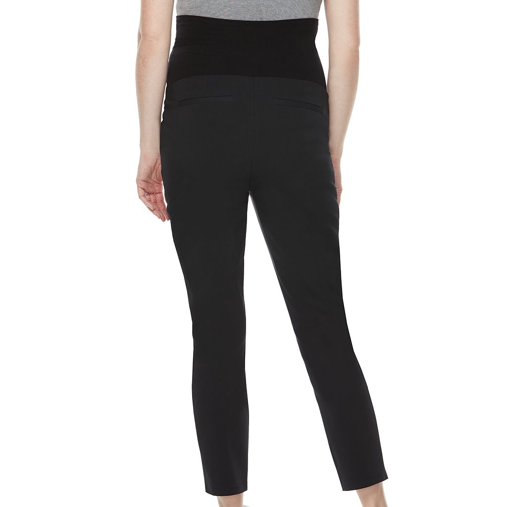 Maternity a:glow Belly Panel Slim Ankle Pants